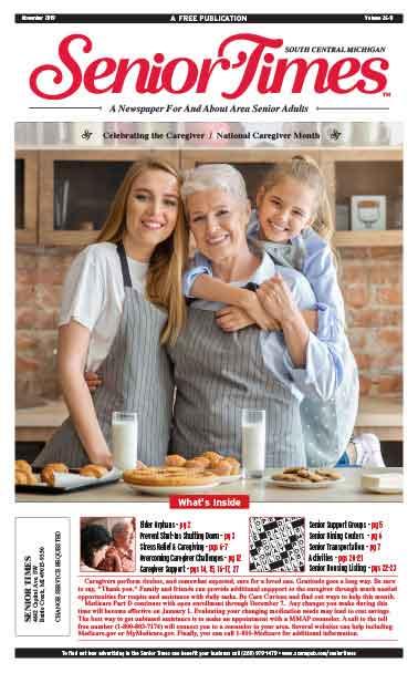 Senior Times Celebrating the Caregiver Cover