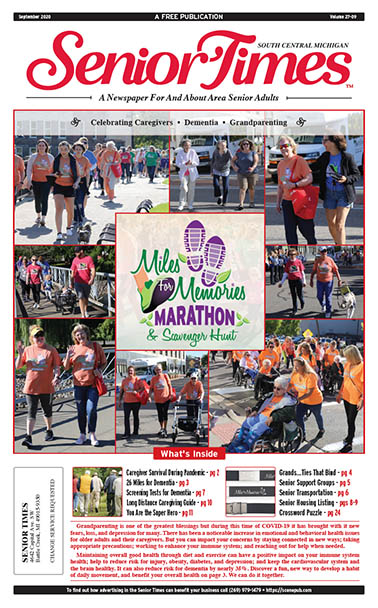 Senior Times - Celebrating Caregivers, Dementia, Grandparenting, Miles For Memories Marathon