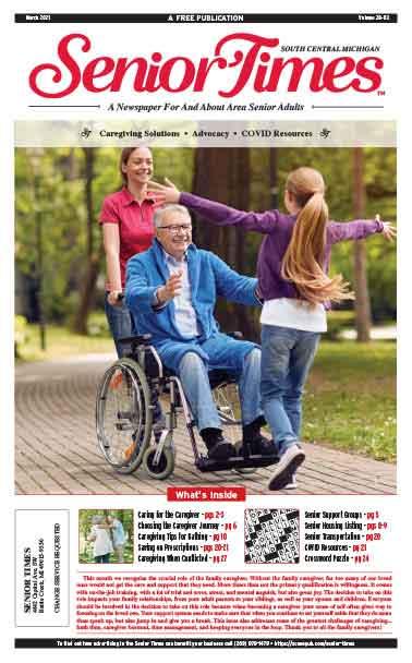 Senior Times - Caregiving Solutions, Advocacy, COVID Resources Cover